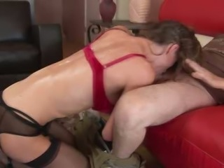 milf Honey West and her sex christmas party
