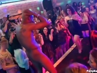 Party hard whores are so into oral sex and wild cock ride in the club