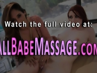 Hot masseuse tastes milf