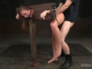 Lewd slut Maddy O'Reilly earns herself a good punishment in the dungeon