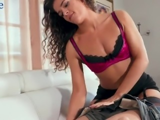 Alluring curly Latina sweetie Victoria Voxxx seems to be oral sex fan