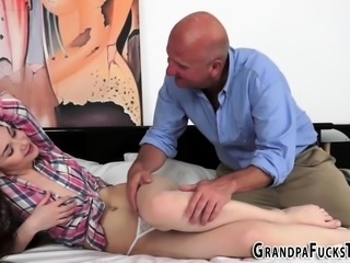 Teenager sucking grandpa