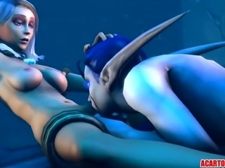 Jaina Proudmoor hammered hard by big dick orc