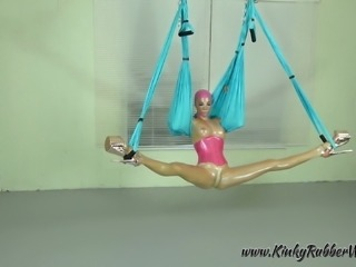 Latex Lara on the Yoga Swing