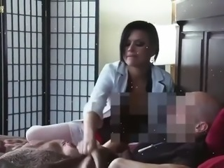 Lady doctor laid on cock
