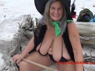 Wicked witch with enormous hangers