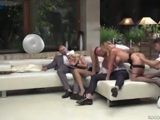 Incredibly voracious for multiple orgasm Silvia Dellai takes hard DP