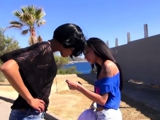 German bisexual girlfriend first time try lesbian outdoor