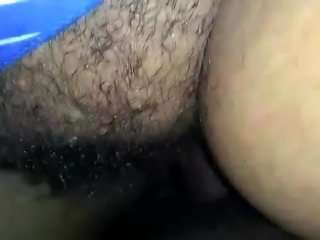 DTF wife's hairy pussy