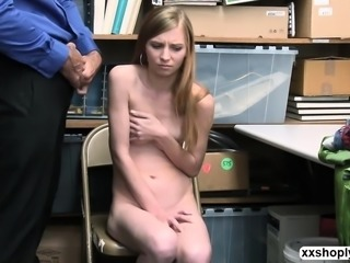 Shoplifter Teen Ava Parker gets her pussy dominates