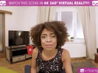VR PORN- Hot Ebony Student Get Fucked Hard By Her Teacher (HD VR PORN)