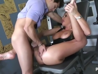 Sky fucked in the gym