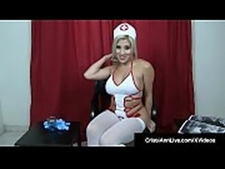 JOI Nurse Cristi Ann Helps You Cum For The Sperk Bank!