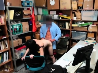 Shoplifter Teen Alex Harper have some fun with LP Officer