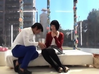 Delightful Japanese babes enjoying hot sex action in public