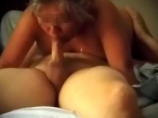 Big Mom Sucks On Stepsons wanker