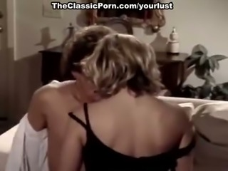 Beautiful and busty classic blonde girl gives gentle blowjob