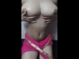 Indian Desi Boobs massage with oil