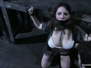 Beautiful Sara Scott enjoy rough and hot BDSM action