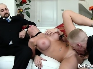 Wife Raven Bay Pounded as Cuck Watches