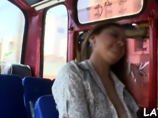 Lovely brunette hair latina performs astonishing cock-riding