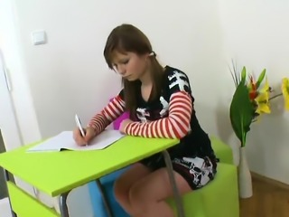 Erotic schoolgirl is tempted and plowed by senior sch30plM