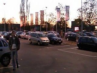 German girls fuck at parking