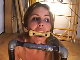 Fetish slave Cindy butt fucked punishment