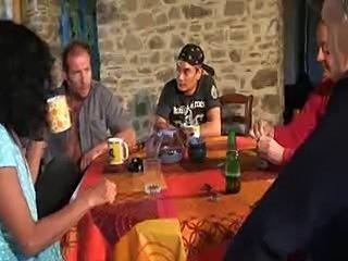 French housewife gangbanged hard and deep