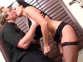 Naughty nun slut fucked by the horny priest