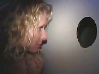 Amateur Gloryhole Chick Swallows Every Drop From Anonymous Cock