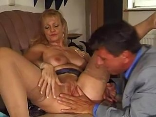 german mature in stockings fucked by her boss