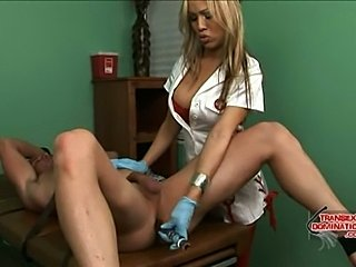 TS nurse tends her patient