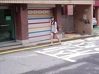 Masturbating for 18 yr old Korean during summer