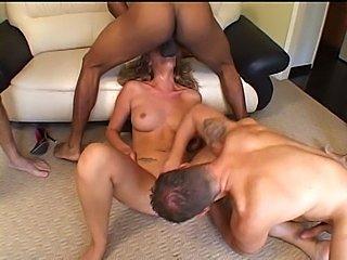 Curly Mysti is so horny she needs five dicks